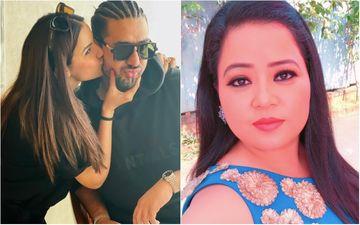 Jasmin Bhasin Plants A Cute Kiss On Beau Aly Goni's Cheeks; PDA Moment Makes Bharti Singh Awkward- See Pic