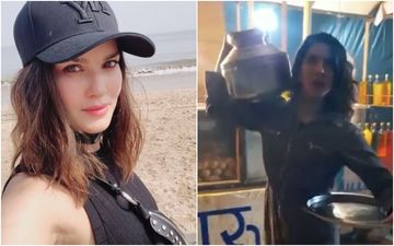 Anamika: Sunny Leone Seems To Be In A Jovial Mood As She Does Some 'Masti On The Sets'; Says She Did Not Smash Paani Puri Sitting Next To An Utter Mess – VIDEO