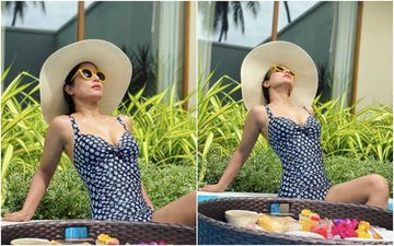 Hina Khan Is Raising The Mercury Levels As She Flaunts Her Sexy Curves In One-Piece