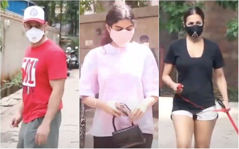 Celeb Spotting: Malaika Arora Takes Her Pet Dog Out For A Walk; Khushi Kapoor, Kunal Kemmu Snapped In The City In Their Casual Best - VIDEO