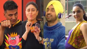 Good Newwz BTS: Kareena Kapoor-Kiara Advani-Diljit Dosanjh Have A Gala Time On-Sets Courtesy PRANKSTER Akshay Kumar