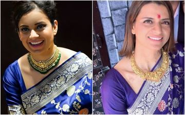 Kangana Ranaut Jokes How Sister Rangoli Chandel Borrowed Her Saree For An Occassion But Never Returned It; Says: 'It's Called Seizing'