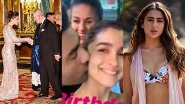 MOST VIRAL Bollywood Pics: When Kanika Kapoor Met Prince Charles, Ranbir-Alia And Arjun-Malaika's Kiss, Sara Ali Khan In Bikini