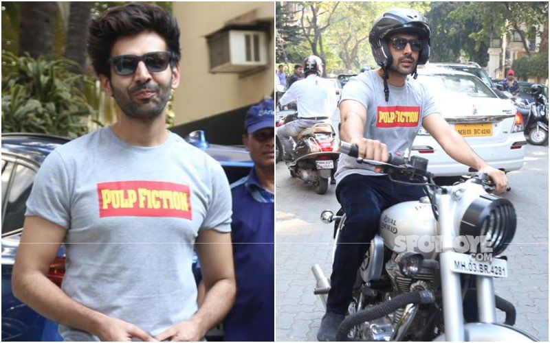 Bhool Bhulaiyaa 2: Kartik Aaryan Goes For A Morning Ride On His Swanky Bike; Netizens Have A Hilarious Observation