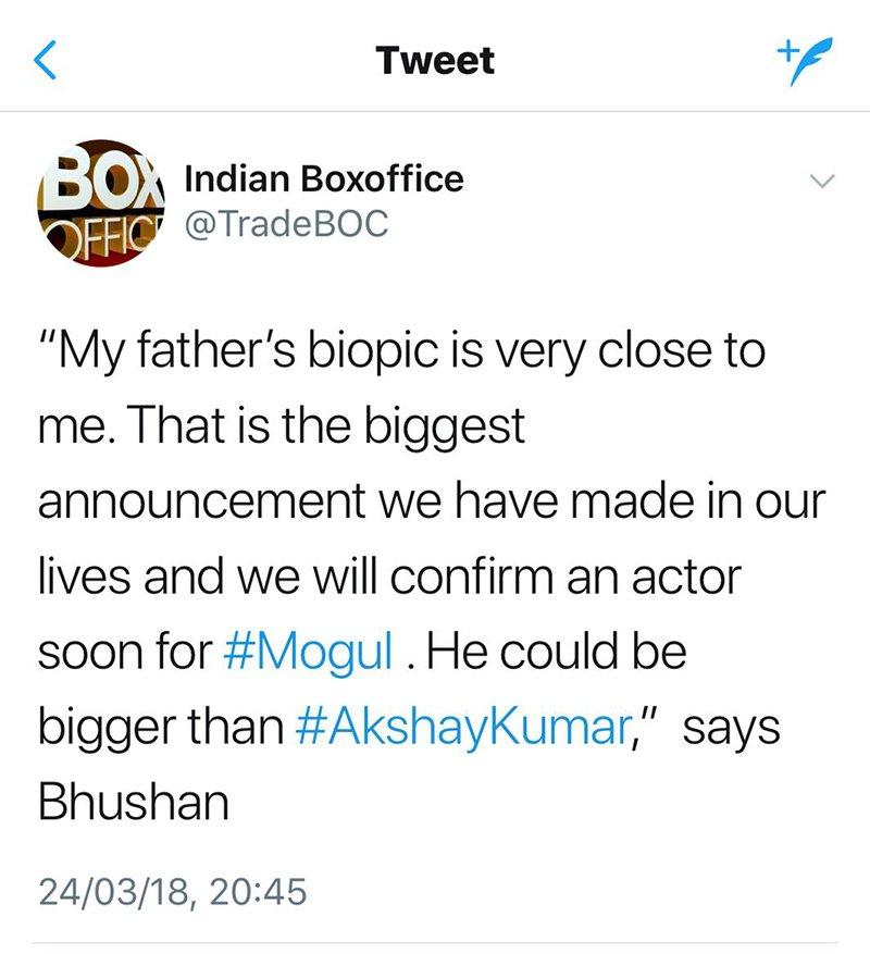 Bhushan Kumar Tweet
