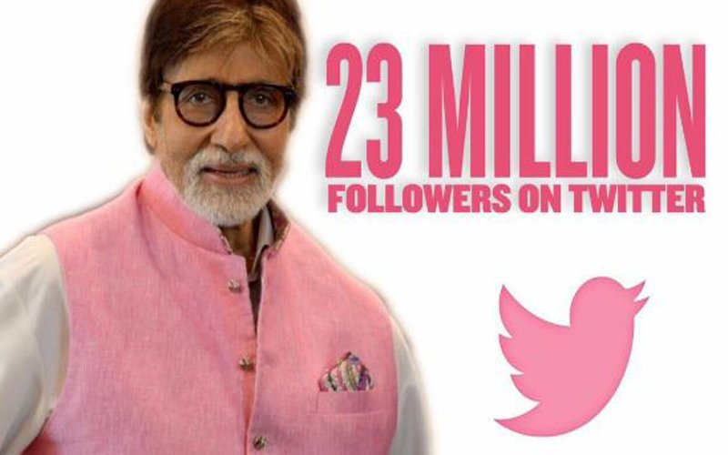 SOCIAL BUTTERFLY: Amitabh Bachchan Crosses The Milestone Of 23 Million Twitter Followers!