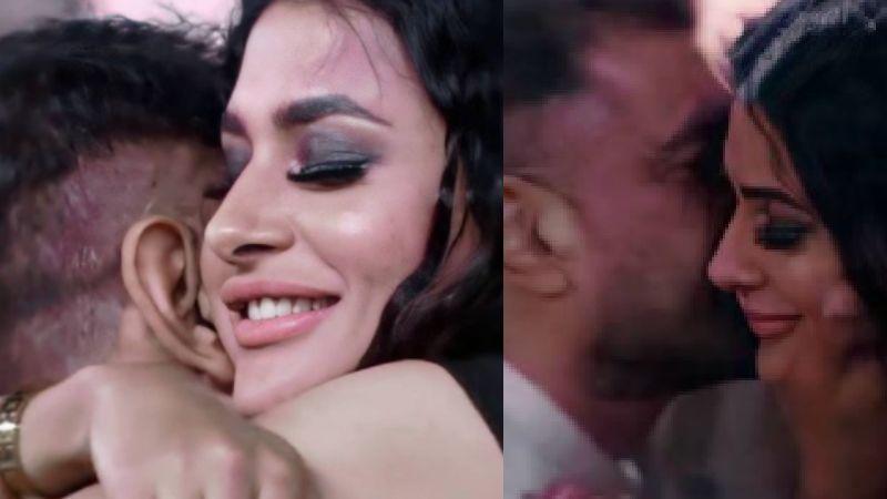 Bigg Boss 14: Eijaz Khan Plants A Sweet Kiss On Lover-Turned-Foe Pavitra Punia's Cheek As She Gets Eliminated