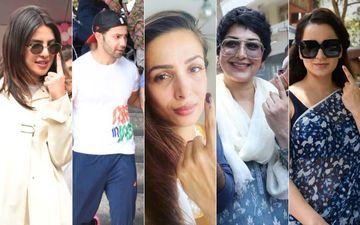 Lok Sabha Elections, 2019: Priyanka Chopra Jonas, Varun Dhawan, Malaika Arora, Sonali Bendre, Kangana Ranaut Cast Their Vote- Pics Inside