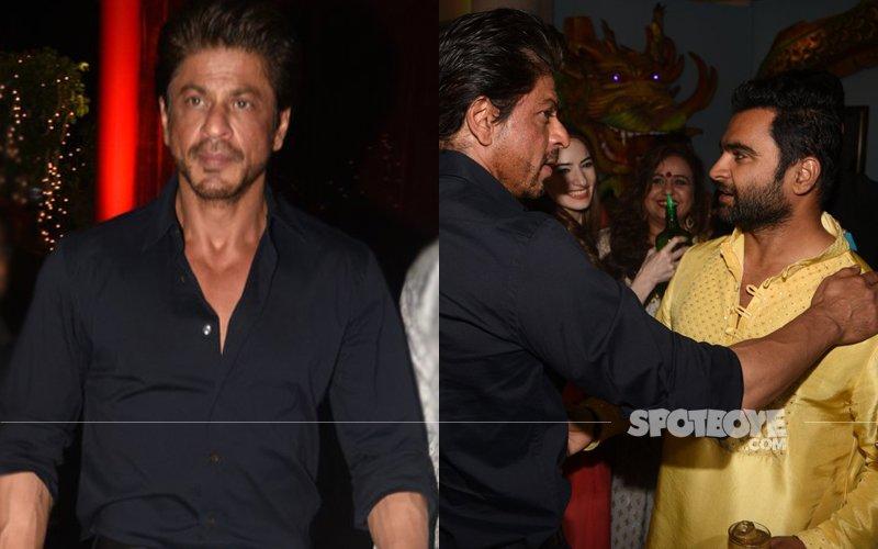 Bollywood Diwali Celebration: Shah Rukh Khan At Sachiin Joshi's Diwali Bash