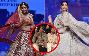 Big B Cheers For Daughter Shweta, Sonam Kapoor Twirls On Alia Bhatt's Song At Abu Jani-Sandeep Khosla's Fashion Show