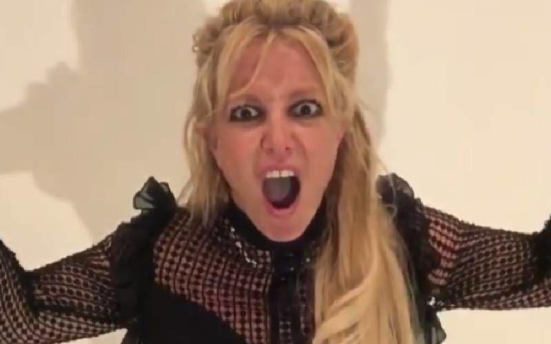 Britney Spears Screams 'Baby, Be Quiet' As Her Boyfriend Sam Asghari Interrupts Her Pride Month Message - WATCH