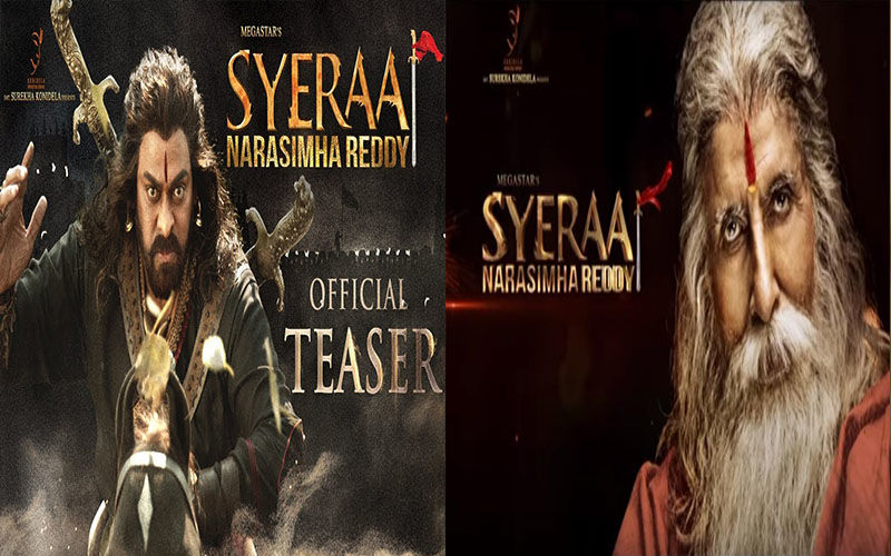 Sye Raa Narasimha Reddy Teaser To Be Out Tomorrow; Chiranjeevi And Amitabh Bachchan's Fierce Posters Are Mesmerising