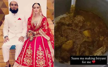 Post Wedding With Mufti Anas, Sana Khan Is Being Pampered By Her Mother-In-Law; Lady Gives A Glimpse As She Enjoys Biryani Made By 'Saasu Ma'