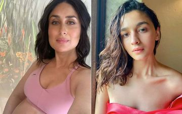 Kareena Kapoor Khan In A Pink Sports Bustier And Spandex Pants OR Alia Bhatt In Pink Co-ords: Whose Pink-On-Pink Look Do You Like More?