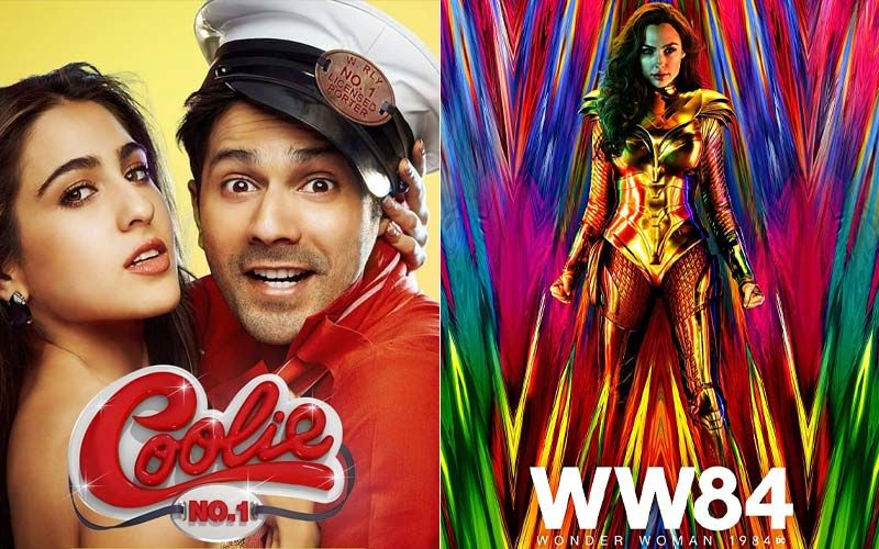 Will Varun Dhawan And Sara Ali Khan's Coolie No 1 Feel The Heat From Gal Gadot's Wonder Woman 1984 Releasing In 2000 Screens This Christmas?