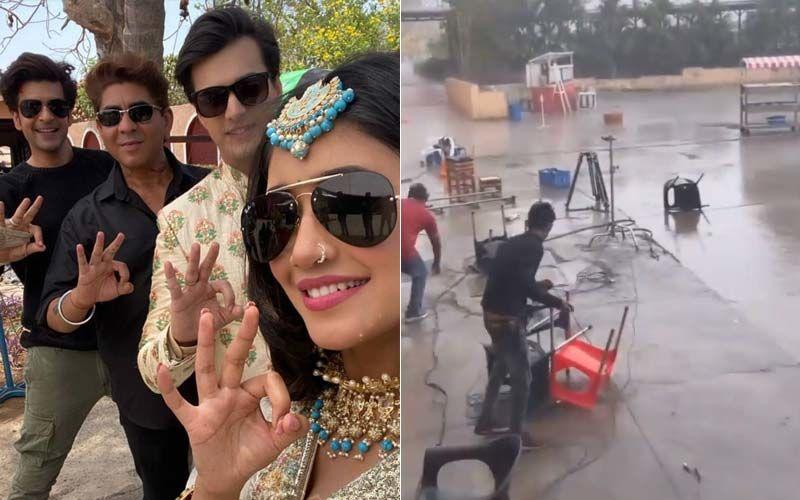 Cyclone Tauktae Creates Havoc On The Sets Of Yeh Rishta Kya Kehlata Hai, Karan Kundrra Shares Alarming Videos As Cast Seeks Refuge From Crazy Winds - WATCH