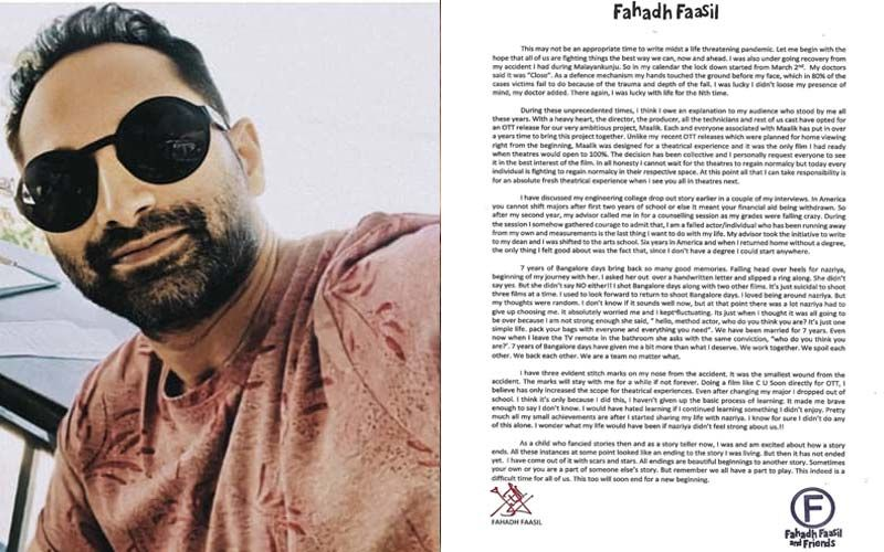 Fahadh Faasil On the Digital Release of Malik, says,'The Decision To Skip The Theatrical Route Wasn't An Easy One'