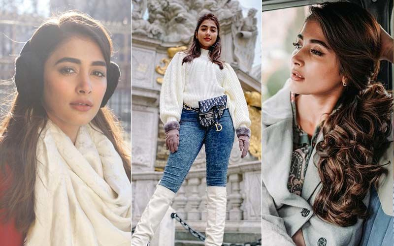 Pooja Hegde's Winter Style Files In 10 Glossy Pictures: From Dramatic White Dress With Boots To A Sassy Christmas Outfit