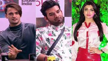 Bigg Boss 13: Asim Gets Uncomfortable As Media Exposes His 'Nanga' Comment On Paras; GF Akanksha In Picture AGAIN