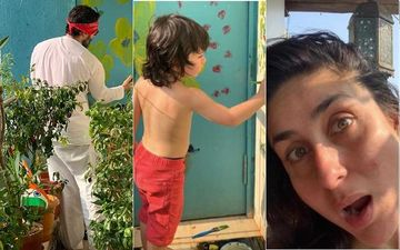 Kareena Kapoor Khan Posts Pics Of Saif And Taimur In Their Balcony; Fans Notice Indian Flag In A Flower Pot, Ask 'Why There?'