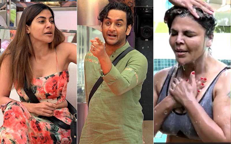 Bigg Boss 14 Jan 27 SPOILER ALERT: Nikki Tamboli Gets Into An Ugly Spat With Vikas Gupta And Devoleena Bhattacharjee; Rakhi Sawant Enjoys A Cool Outdoor Bath