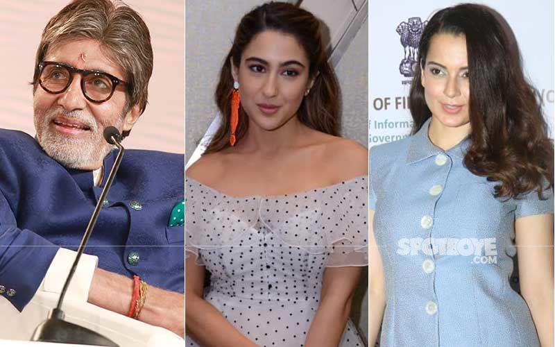 Holi 2021: Amitabh Bachchan And Sara Ali Khan Wish Fans Singing Song Rang Barse; Kangana Ranaut Celebrates The Festival With Film Tejas' Squad