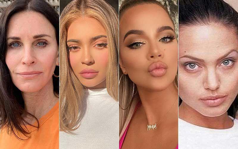 Friends Star Courteney Cox, Kylie Jenner, Khloe Kardashian, Angelina Jolie- Hollywood Celebs Who Had Plastic Surgeries