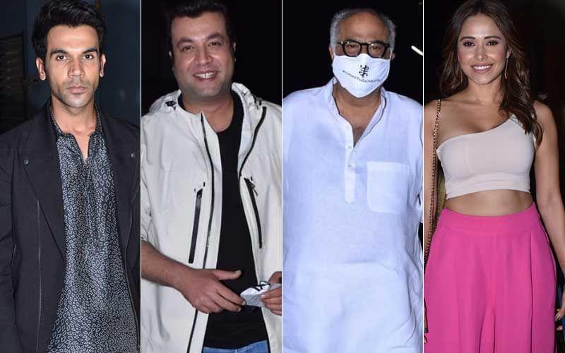 Roohi Screening: Rajkummar Rao, Varun Sharma, Janhvi Kapoor's Dad Boney Kapoor, Nushrratt Bharuccha Arrive To Watch The Horror Comedy- PICS INSIDE
