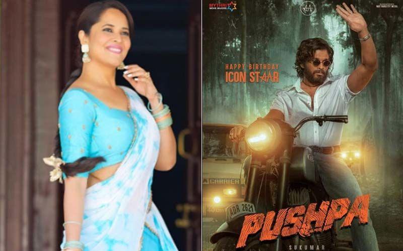 Pushpa: Anasuya Bharadwaj Joins The Sets Of Allu Arjun's Action Drama In Hyderabad