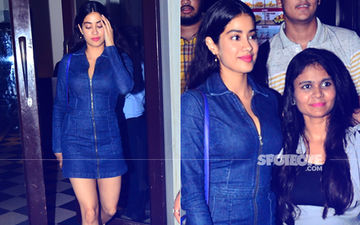 Janhvi Kapoor Is All Smiles As She Dines Out With Friend