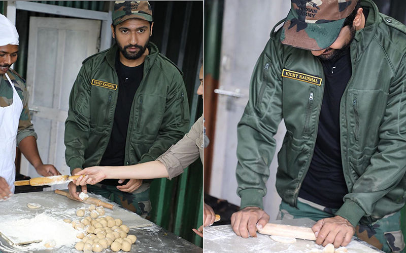 Vicky Kaushal Makes His First Ever Roti For The Indian Army