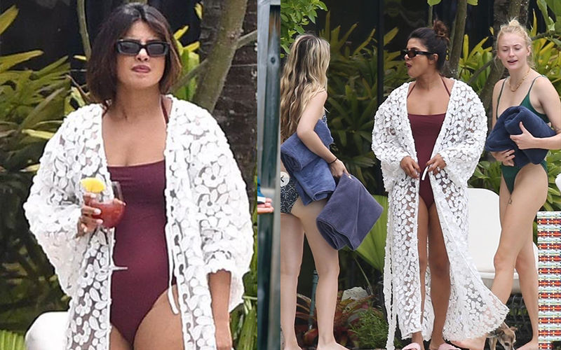 Priyanka Chopra Looks Jaw-Dropping HOT As She Takes A Dip In A Sexy Swimsuit - Pics Inside