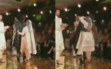Navya Naveli Nanda's Rumoured Boyfriend Meezan Jaffery Hugged By Jaya Bachchan At Abu Jani And Sandeep Khosla's Fashion Show: Watch Video