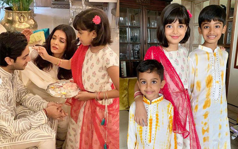 Aishwarya Rai Bachchan Can't Get Enough Of Her Rakshabandhan Pictures; Actress Treats Us With Snaps Of Aaradhya And Her Siblings