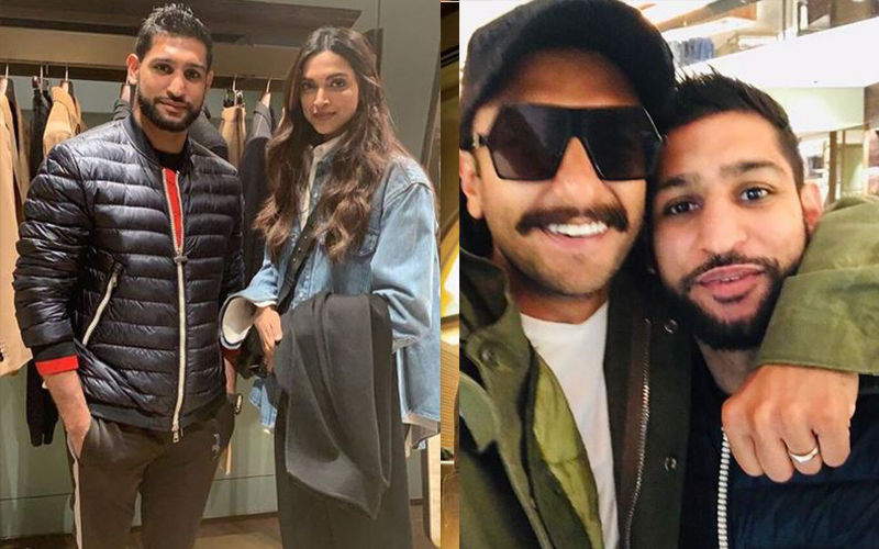 Deepika Padukone And Ranveer Singh Bump Into Boxing Champ Amir Khan In London: View Photos