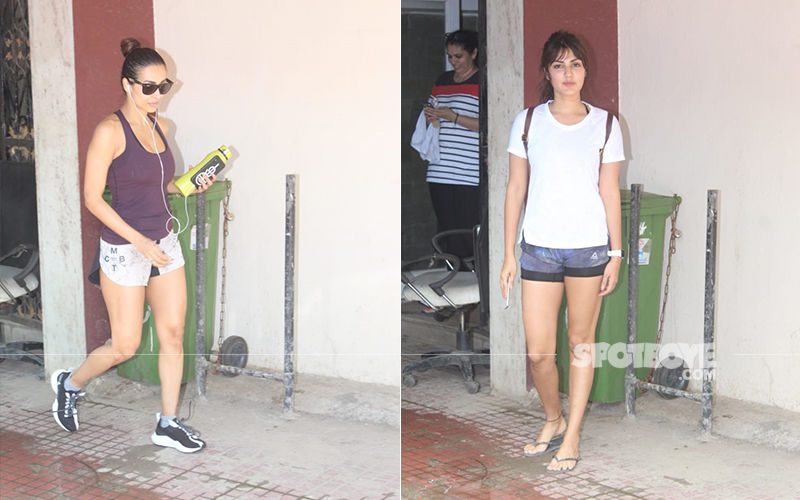 Malaika Arora And Rhea Chakraborty Look Super Fit As They Step Out Post Pilates Session
