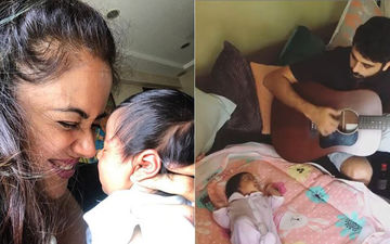 Aww! Sameera Reddy Shares The Cutest Video Of Hubby Akshai Varde Serenading Li'l Nyra