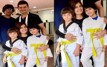 Shah Rukh Khan Honours Son AbRam With A Yellow Belt As He Graduates To The Next Level In Karate