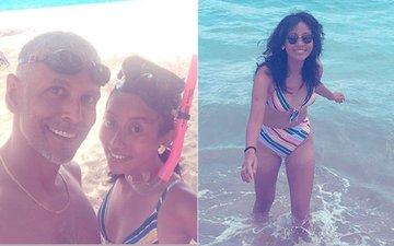 Honeymoon Pics: Milind Soman & Ankita Konwar Chill By The Hawaiian Sea