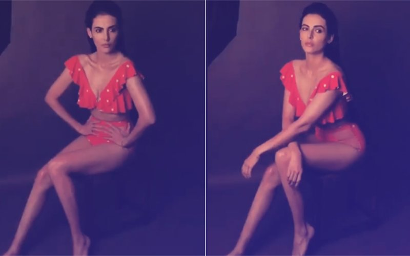 Mandana Karimi's Orange Polka Dot Bikini Is Giving The Internet Major Summer Feels