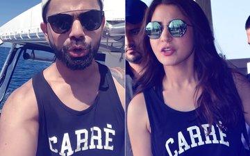 And Again! Virat Kohli & Anushka Sharma Spotted Wearing The Same Black T-Shirt