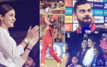 Anushka Sharma Just Can't Stop Blushing During Hubby Virat Kohli's Match...