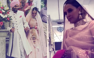 Pics & Video: Neha Dhupia & Angad Bedi Take Pheras