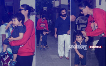 Cuteness Alert: Taimur Runs Ahead To Get Clicked With Kareena Kapoor & Saif Ali Khan
