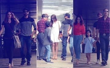 Akshay Kumar, Hrithik Roshan, Sussanne Khan & Twinkle Khanna's Sunday Lunch Date In Bandra