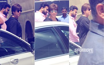 Pics: Shah Rukh Khan In Shoot Mode, Spotted On The Sets Of Zero