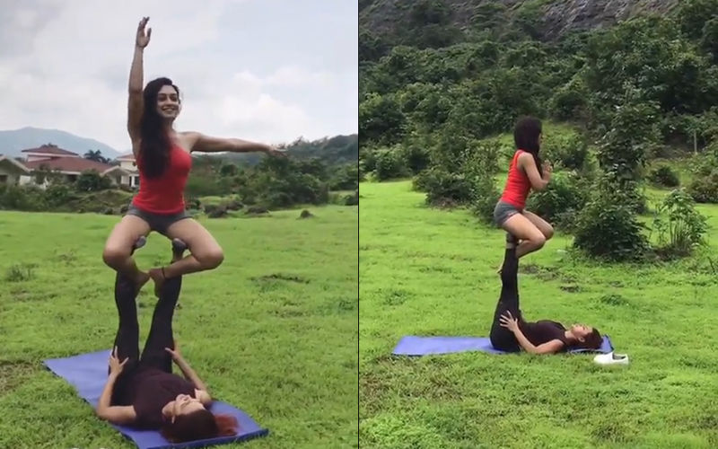 Aashka Goradia And Abigail Pande Provide Fitness Goals In Their IGTV Yoga Video