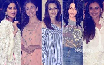 STUNNER OR BUMMER: Janhvi Kapoor, Alia Bhatt, Kriti Sanon, Shruti Haasan Or Rani Mukerji?