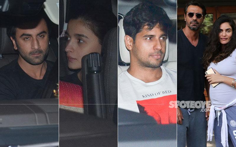 Celeb Spotting: Ranbir-Alia-Sidharth Together At Karan Johar's House; Arjun Rampal With Girlfriend Gabriella Papped In Bandra