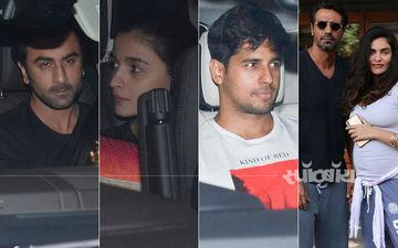 रणबीर, आलिया और सिद्धार्थ पहुंचे करण जौहर की पार्टी में, अर्जुन रामपाल गर्लफ्रेंड संग रेस्तरां के बाहर हुए स्पॉट